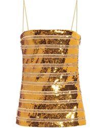 Galvan London Top lencero Stargaze de lentejuelas - Metálico