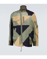 Sacai Hank Willis Thomas Solid Mix Blouson Jacket - Multicolour