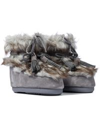 Moon Boot Mars Suede Snow Boots - Grey
