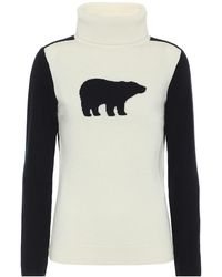 Perfect Moment Pullover Bear in lana - Blu
