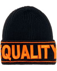 Versace   Equality Embroidered Wool Beanie   Lyst
