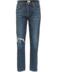 Citizens of Humanity - Jeans slim Liya a vita alta distressed - Lyst