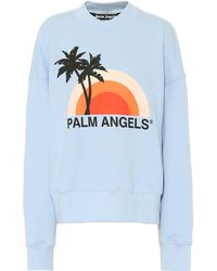 Palm Angels - Rainbow Cotton-jersey Sweatshirt - Lyst