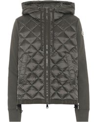 Moncler Down And Jersey Jacket - Green