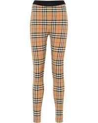 Burberry Karierte Leggings Vintage Check - Mehrfarbig