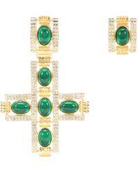 Gucci Clip-Ohrringe mit Kristallen - Mettallic