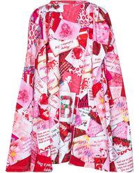 Balenciaga Bedrucktes Top aus Baumwolle - Rot