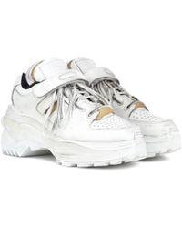 Maison Margiela Retro Fit Leather Trainers - White