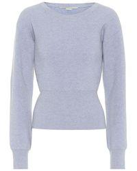 Stella McCartney Pullover in cashmere e lana - Blu