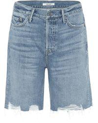 GRLFRND Marjan Denim Shorts - Blue