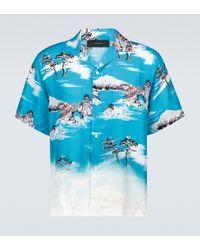 Amiri Camisa Aloha de manga corta - Azul