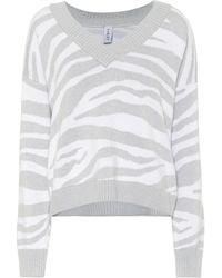 Varley Calvert Zebra-striped Sweater - Grey