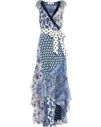 Diane von Furstenberg Vestido de seda Ava estampado - Azul
