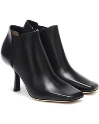 Jimmy Choo Marcelin 85 Leather Ankle Boots - Black