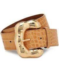 Rejina Pyo Cinturón Boule de piel efecto coco - Multicolor