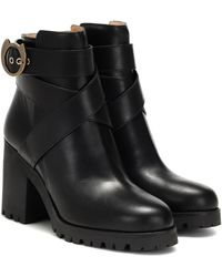 Charlotte Olympia Leather Ankle Boots - Black