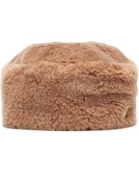 Max Mara Colby Camel Hair Hat - Brown