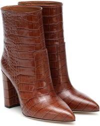 Paris Texas Ankle Boots aus Leder - Braun