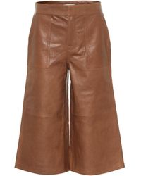 FRAME Leather Culottes - Brown