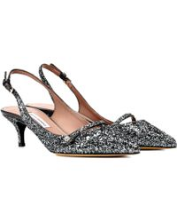 Tabitha Simmons - Exclusive To Mytheresa. Com – Layton Glitter Slingback Court Shoes - Lyst