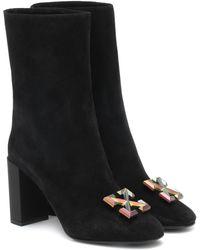 Off-White c/o Virgil Abloh Arrow Suede Ankle Boots - Black