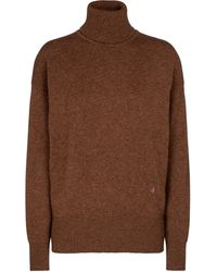 Victoria Beckham Cashmere-blend Turtleneck Jumper - Brown