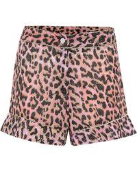 Juliet Dunn High-rise Printed Cotton Shorts - Multicolour