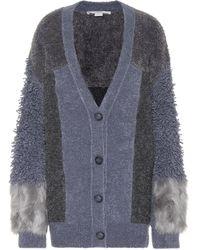 Stella McCartney Cárdigan en mezcla de lana - Gris