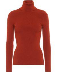 Gucci Rollkragenpullover aus Wolle - Rot