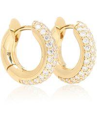 Spinelli Kilcollin Argollas Mini Macro Hoop de oro de 18 ct con diamantes - Metálico