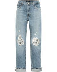 J Brand Tate Mid-rise Boyfriend Jeans - Blue
