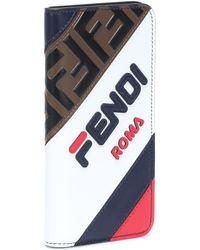 Fendi Mania Leather Iphone X Case - Multicolour