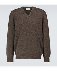 Lemaire Pullover aus Wolle mit V-Ausschnitt - Braun