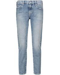 AG Jeans Low-Rise Slim Jeans Ex-Boyfriend - Blau