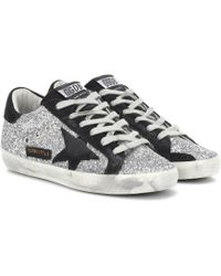 Golden Goose Deluxe Brand - Superstar Glitter Sneakers - Lyst