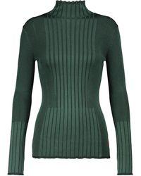 Victoria, Victoria Beckham Gerippter Rollkragenpullover - Grün