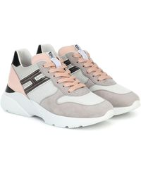 Hogan H358 Leather-trimmed Trainers - Multicolour