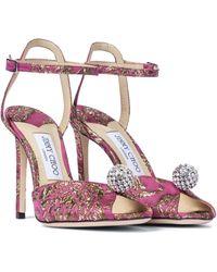 Jimmy Choo - Exclusive To Mytheresa – Sacora 100 Brocade Sandals - Lyst