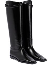Totême Leather Knee-high Boots - Black