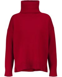Max Mara Pull Trau en laine et cachemire - Rouge