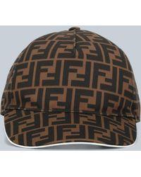 Fendi Monogram Baseball Cap - Brown