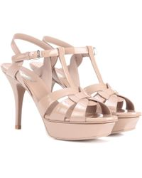 Saint Laurent - Tribute 75 Patent Leather Sandals - Lyst