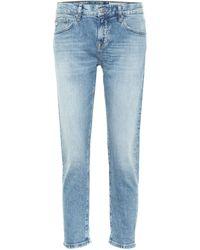 AG Jeans Ex-boyfriend Low-rise Slim Jeans - Blue