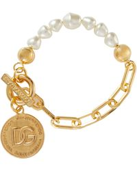 Dolce & Gabbana Armband mit Zierperlen - Mettallic
