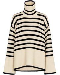 Totême Striped Wool And Cotton Jumper - Multicolour