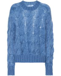Prada Pullover mit Mohairanteil - Blau