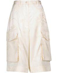 JW Anderson Shorts aus Jacquard - Weiß