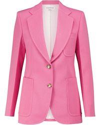 Victoria Beckham Wool-blend Blazer - Pink