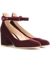 Gianvito Rossi - Greta Mid Velvet Court Shoes - Lyst