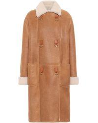 Loewe Shearling Coat - Brown